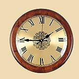 WERLM Persönlichkeit Design Home Decor Wanduhr Art Uhr Holz Uhren Round Table Uhren Wanduhren Wohnzimmer Silent Quartz Uhren Modern Einfache Ideen Schlafzimmer Wandkarten Ideal für Home Dining Küche Büro Schulen Ideal für jeden Raum, F
