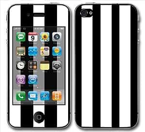 Sticker skin autocollant iphone 4 BLANC RAYURE RAYE VERTICAL NOIR GEEK RETRO FASHION VINTAGE de Zebestaffaires