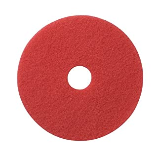 Americo Manufacturing Americo 404407 Red Buffing Floor Pad, 7.75-inch, 5 per Pack (Made in USA)
