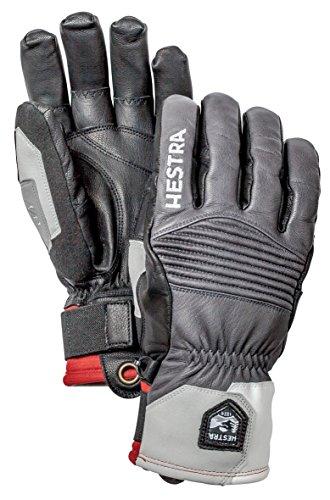 Thermolite-leichte Handschuhe (Hestra Jon Olsson Pro Modell Leichtes Leder Handschuh, unisex, grau / schwarz)