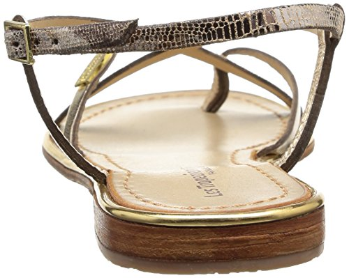 Les Tropéziennes par M. Belarbi Monaco C04169, Damen Sandalen Gold (Or/serpent)