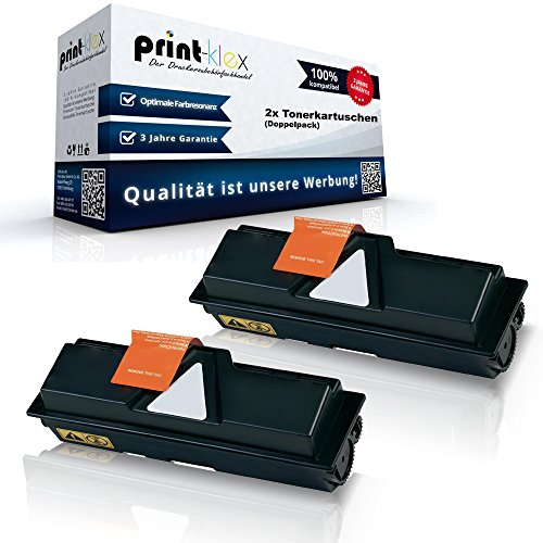 2x Kompatible Tonerkartuschen für Kyocera FS 1100 1100 Arztdrucker 1100 N 1100 TN 1T02H50EU0 TK-140 TK140 TK 140 Schwarz Black - Office Print Serie -