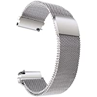 TRUMiRR 18 mm Milanese Loop Watch Band Strap Serratura Magnetica per Huawei Watch, Withings Activite / Acciaio / Pop, 36mm Daniel Wellington