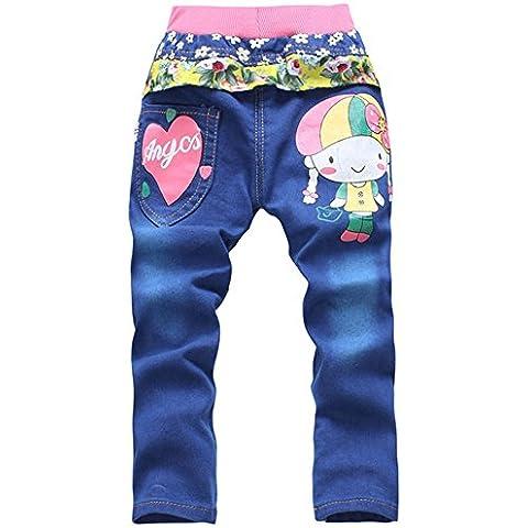 Tkria Bambine e ragazze Moda Blu Jeans 2-6 Anni
