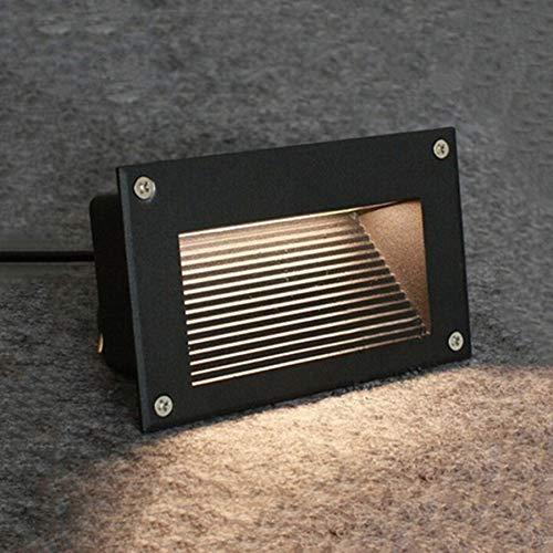 LHY LIGHT LED Treppenlichter 3W Outdoor wasserdichte Schritt Lampe Wandeinbau Ecklicht wasserdichte Landschaft Weg Licht,Warmwhite -