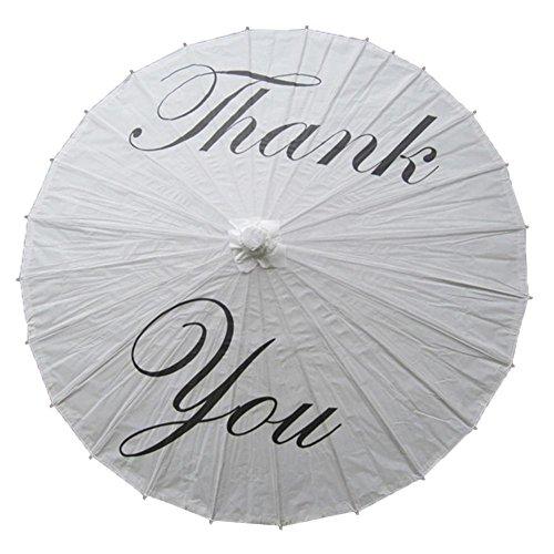 PROKTH Whitepaper Regenschirm, Englisch Briefpapier Regenschirm für Hochzeit Gunst Party Dekoration...
