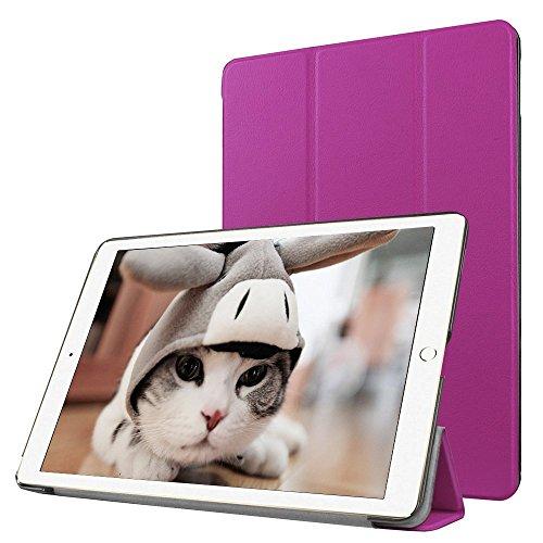 Preisvergleich Produktbild Apple iPad Pro 9.7 Fallabdeckung , TechCode iPad Pro Design Schein-Glitter-Leder-intelligente Kasten-Abdeckung mit Standplatz -Abdeckung PU-Leder-Kasten mit Standplatz -Abdeckung Executive-Multi-Funktions-Leder-Standby-Gehäuse mit eingebauter Magnet für Sleep & Awake Funktion für Apple iPad Pro 9.7(iPad Pro 9.7, Lila)