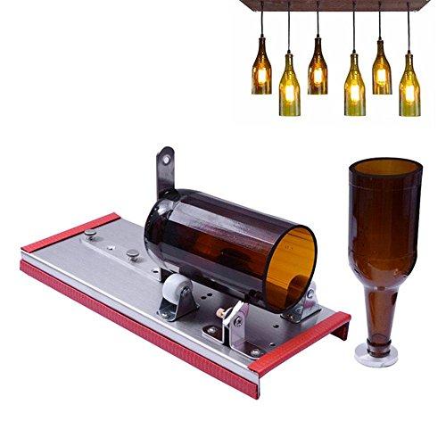 Aolvo Wein Glas Cutter, Bier Flasche Schneiden Kit Werkzeug für Heimwerker, Wein Flasche Lampe, Dekorationen, Creative Vase–viele anpassen Metall Flasche Maschinen mit Legierung Schere - Wein-maschine