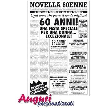 Biglietto Auguri Giornale Compleanno 60 Anni Amico Amazonit