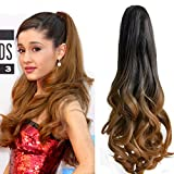 Neverland 20 (50cm) Ombre Two Tone longue Big ondules Griffe Curly Ponytail clip en extensions de cheveux 1B#/27#