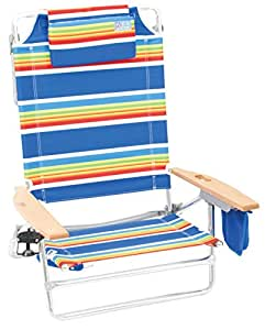 Rio Brands The Big Kahuna Beach Chair - Bright Stripe
