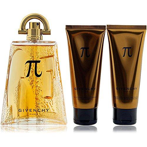 Givenchy Pi Eau de Toilette 100ml + SHAMPOOING Integralhelm Cheveux Et Corps 75ml + Baume Apres Rasage Sans Alcool 75ml Herren (Givenchy Pi Eau De Toilette)