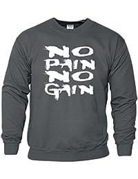 No Pain No Gain Körper Gebäude Ausbildung Neuheit Herren Sweat