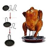 Neue aufrecht Chicken Roaster Rack antihaftbeschichteter Grill grillen Zubehör  HNAA