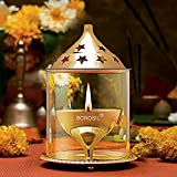 #3: Borosil Akhand Diya (Medium, Brass)
