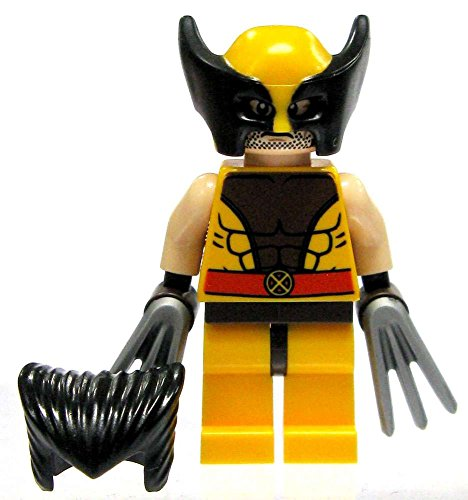 LEGO X-Men Marvel Super Heroes Wolverine Minifigure with Hair & Claws (76022) by LEGO