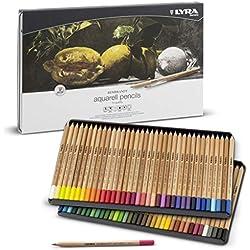 LYRA Rembrandt Aquarell Lápices, 72 Unidades, Color Estuche metálico, (2011720)