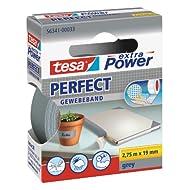 tesa extra Power® Spar-Set: 4x 56341-33-03 Perfect Gewebeband grau 2,75m:19mm