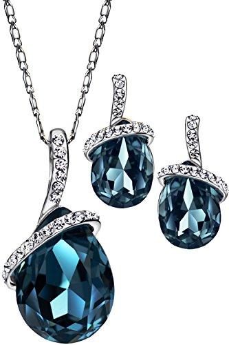 Neoglory Jewellery Schmuckset mit original Swarovski® Elements blau