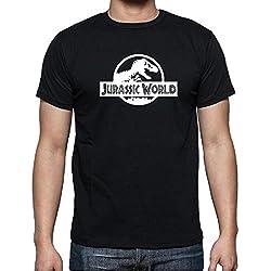 Camiseta camiseta Jurassic World–color negro–Talla M