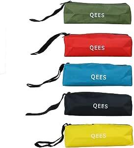 QEES Sac /à Outils avec 5 Compartiments Sacoche Outils Portable Multifonction Rangement de Sacs porte-outils
