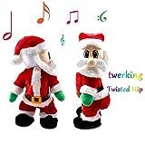 Uleade Elektrische Weihnachtsmann Hüftwackeln Mit Musik Tanzender Weihnachtsmann Spielzeug Geschenk Dekorationen
