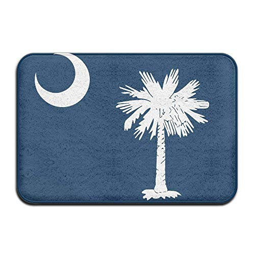 ferfgrg Home Doormat South Carolina State Flag Door Mats Outdoor Mats Entrance Mat Floor ()
