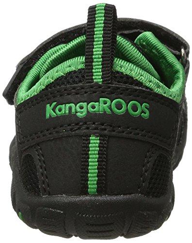 Kangaroos  Kangaspeed X4, Sandales Bout fermé mixte enfant Noir (Black/Simply Green)