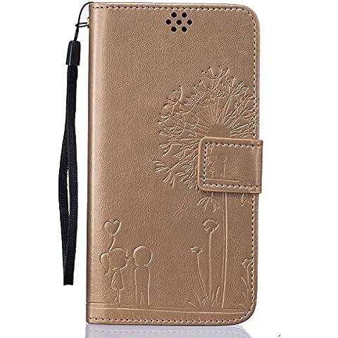 Beiuns Funda de PU piel para Xiaomi Redmi Note 3 / Note 3 Pro (5,5 pulgadas) Carcasa - TX519 oro