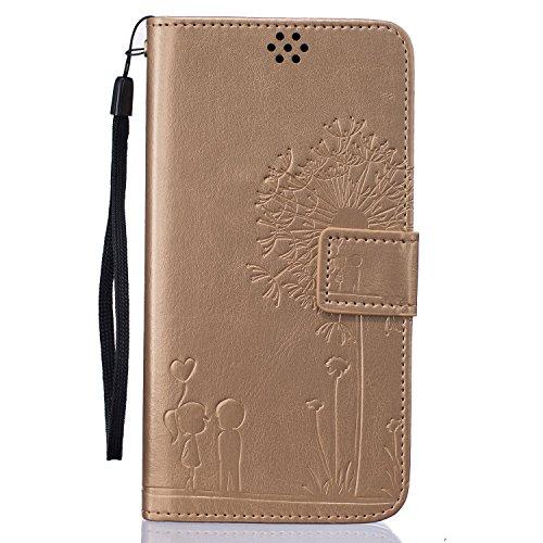 Beiuns Custodia in pelle PU per Xiaomi Redmi Note 3 / Note 3 Pro (5,5 pollici) Custodie e cover - TX519 d'oro