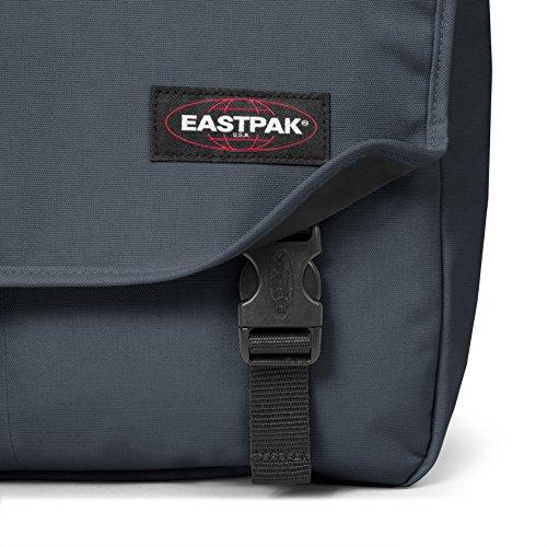 Eastpak Delegate Borsa Messenger, 20 Litri, Nero (Black Clash), 38 cm Grigio (Quiet Grey)