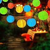 Spardar Solar Outdoor Lichterkette 6 Meter 30 LEDs Lampions Laterne Solarbetrieben Lichterkette Wasserfest Weihnachten Dekoration für Garten, Terrasse, Hof, Haus, Weihnachtsbaum, Feiern (Bunt)