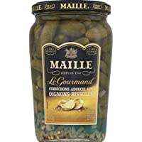 Maille - Cornichon ef aux oignons rissoles bocal - La boîte de 210 - Prix Unitaire - Livraison Gratuit Sous 3...