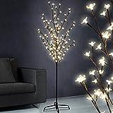 Lichterbaum 1.80m, stromsparend mit 120 LED Lichtern, in Blütenoptik & versch. Lichteffekten - 3 verschiedenen Größen