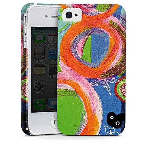 Apple iPhone X Silikon Hülle Case Schutzhülle Abstrakt Muster Kreise Premium Case glänzend