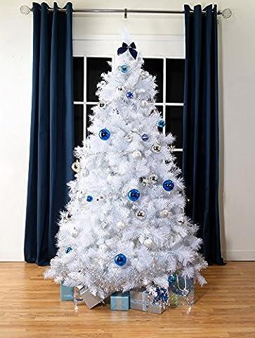 Weiß Nordische Fichte Luxus künstlicher Weihnachtsbaum | 6.5 ft groß (195cm) | 42 cm breit | Modernes, stilvolles und zeitgemäßes Qualität Weihnachtsbaum