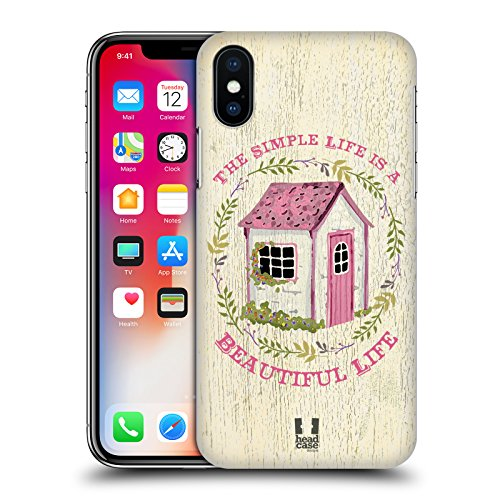 Head Case Designs Zinnia E Api Charm Campagnolo Cover Retro Rigida per Apple iPhone X Cottage