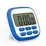 TOPELEK-Timer Cucina Digital Timer Elettrico Fitness Timer Con Allarme Forte e Ampio Display LCD Orologio Digitale Secondo Timer da Cucina