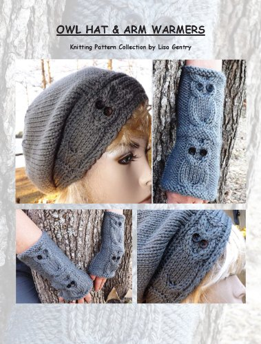 Owl Hat & Arm Warmers - Knitting Pattern #161 (English Edition) (Text Beanie)