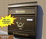 Briefkasten R groß in messing gold goldfarben Zeitungsfach Zeitungen Post antik Mailbox Schild