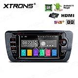 XTRONS HDMI Android 7.1Quad Core 7Inch HD Digital pantalla táctil Radio estéreo de coche reproductor de DVD GPS para SEAT Ibiza