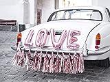 Party Deco Accessoires Décoration de Voiture Rose Gold pour Mariage Guirlande Ballons