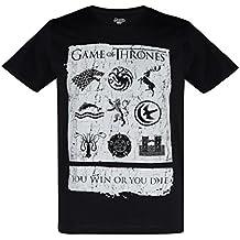 Juego de tronos Hombres Camiseta Manga Corta - Negro