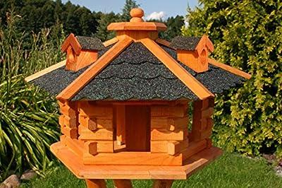 Birdhouse/ Birdfeeder With Asphalt Shingles, Bird Feeders, Bird Table from Deko-Shop-Hannusch