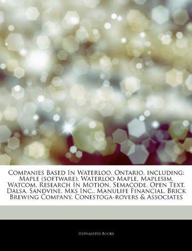 articles-on-companies-based-in-waterloo-ontario-including-maple-software-waterloo-maple-maplesim-wat