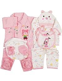 c1fe915364cba jinyouju Nouveau-né Vêtements Unisexe Essential Layette – Lot de 18 pcs  Mignon Infant Barboteuse