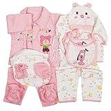 jinyouju Neugeborene Baby Kleidung Unisex Essential Babyausstattung Set 18Cute Infant Strampelanzug 0–3Monate Gr. Einheitsgröße, Rose