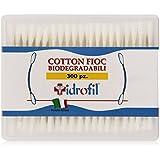Idrofil - Cotton Fioc, Bastoncini in cottone Biodegradabili - 300 Pezzi
