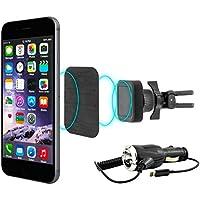 MidGard magnetico auto vent clip di montaggio telefono cellulare supporto auto universale per Apple iPhone 6 / 6S incl. Auto cavo di ricarica