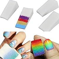 RIXTHY Esponja Gradiente de Esmalte de Uñas Suave para DIY Nail Art Creative Herramienta de Esmalte Semipermanente.